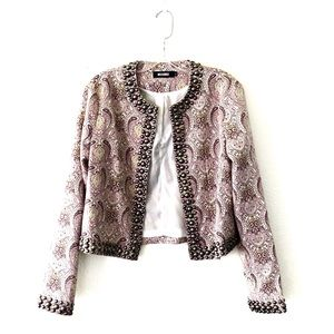 MISSGUIDED • boho paisley print studded jacket